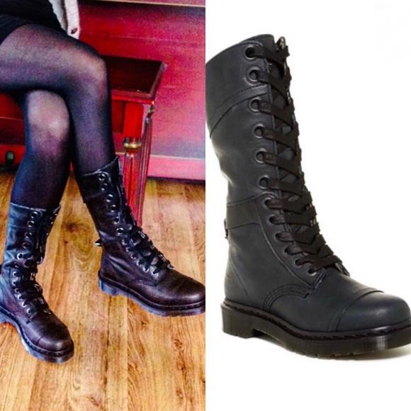 quality design fe40e db5e5 Black Dr Marten Triumph 1914 Lace Up Boots